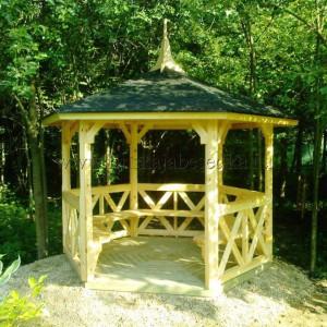 Садовая беседка из дерева Poutapilvi 6k