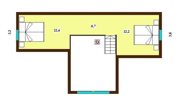 План второго этажа дома Арктик 126