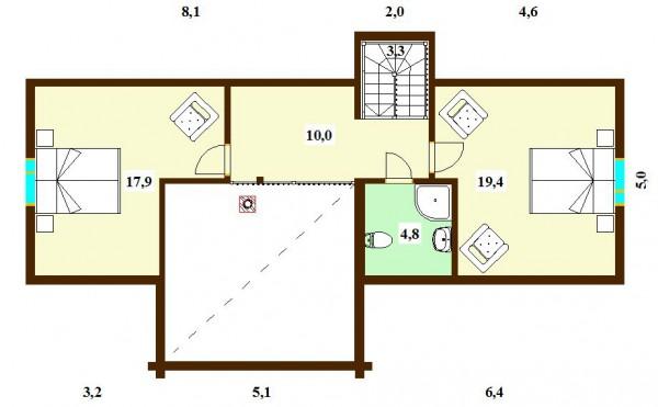 План второго этажа дома Арктик 172