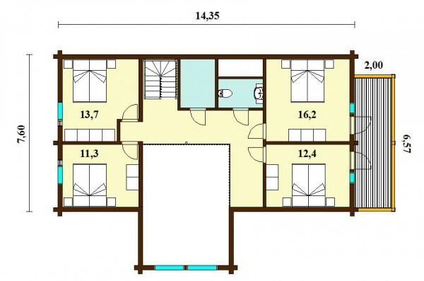 Дом Арктик 244. План второго этажа