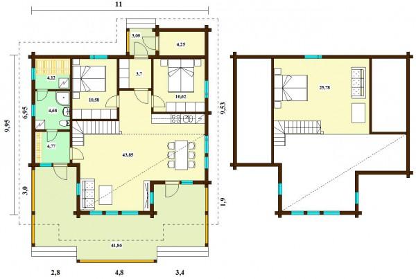 План дома Гармония 151