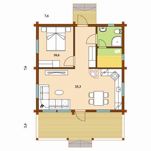 План дома Гармония 70
