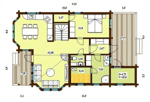 Дом Скандия 159 план первого этажа