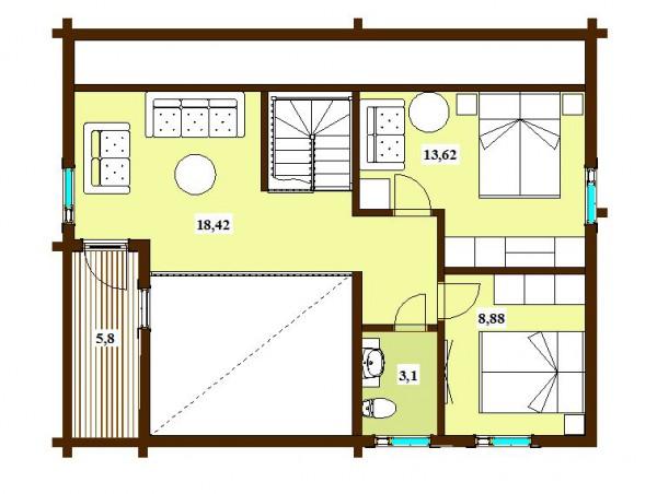 Дом Скандия 159 план второго этажа