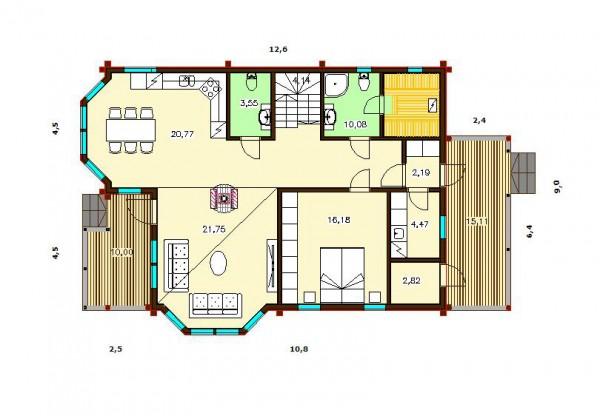 Дом Скандия 215 план первого этажа