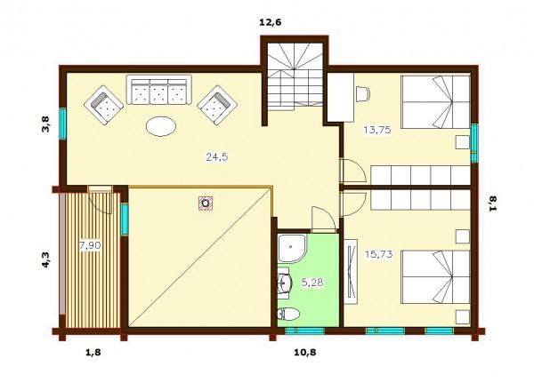 Дом Скандия 215 план второго этажа