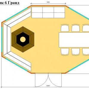 Гриль домик Гранд 16 планировка