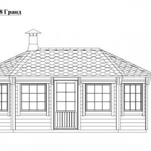 Схема гриль домика Гранд 18