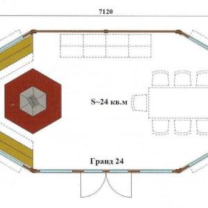 Схема гриль домика Гранд 24