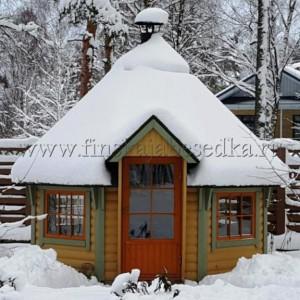 Зимний гриль домик Кота Панорама 11