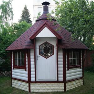 Гриль домик Кота Панорама