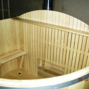 Купель из сосны с печькой