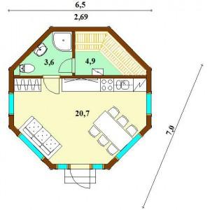 Дом Монплезир 35 план