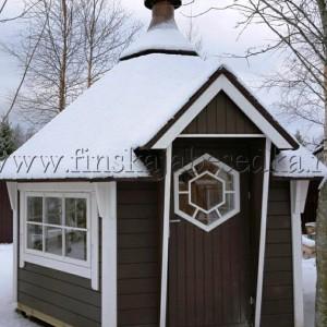 Теплый гриль домик Кота Панорама 6