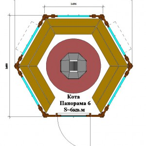 Схема гриль-домика Кота Панорама 6