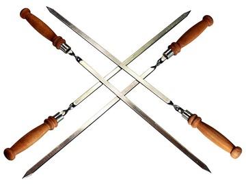Шампур с деревянной ручкой – 47 см