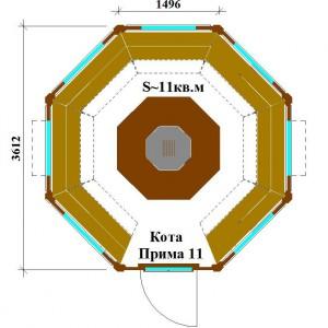 Планировка гриль домика Кота Прима 11
