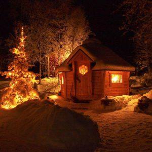 Гриль домик Кота зимой