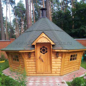 Большой гриль-домик Кота 16А с наклонными стенами